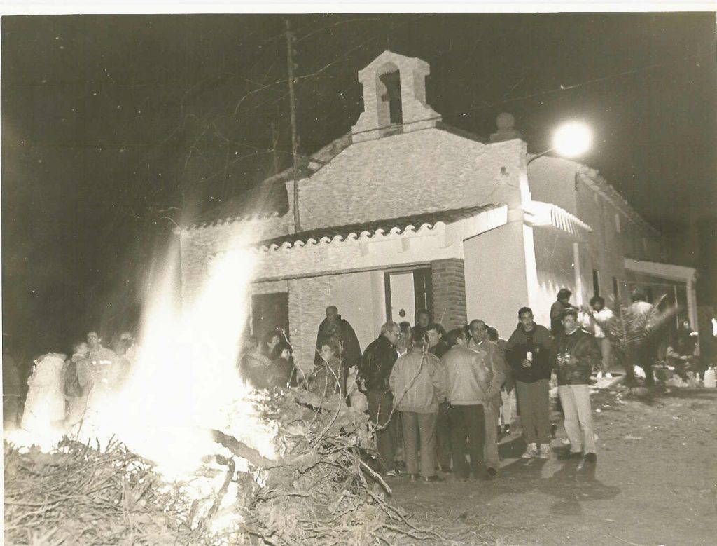 Hoguera de San Blas en Serradiel